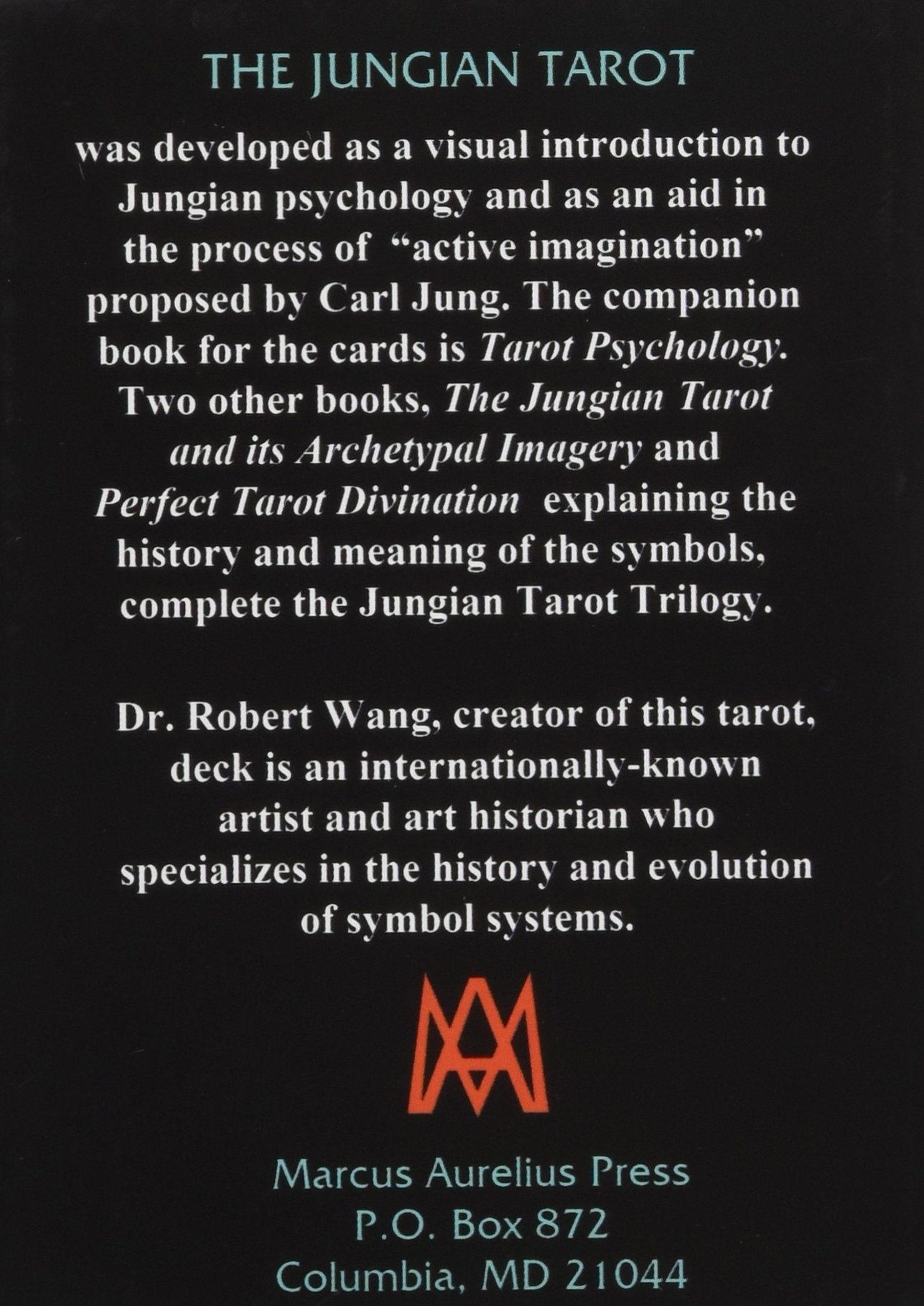 The Jungian Tarot Deck: Robert Wang: 9781572819061: Amazon com: Books
