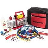 Kozyvacu AUTO AC Repair Complete Tool Kit with 1-Stage 4.5 CFM Vacuum Pump, Manifold Gauge Set, Hoses and its…