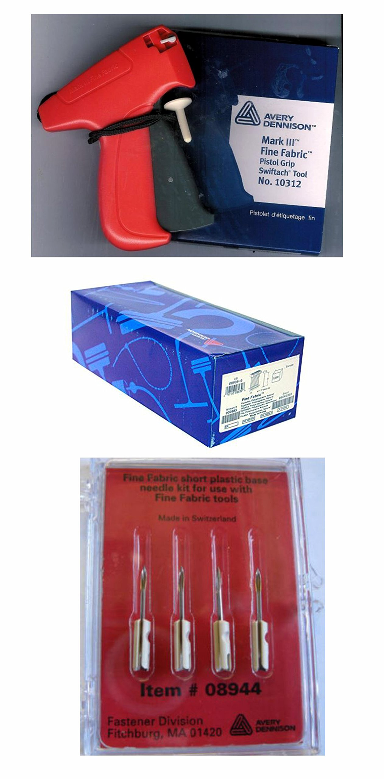 Avery Dennison Mark III 10312 Fine Tagging Gun with 5,000 2'' Avery Dennison Barbs and 4 Avery Dennison Replacement Needles by Avery Dennison