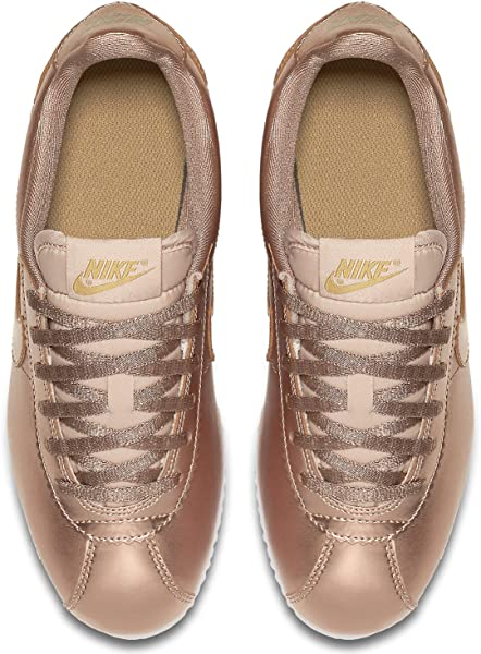 sports shoes 4e844 3a5f0 Cortez SE (GS) 859569-901 Metallic Red Bronze Leather Kids s Girls Shoes.  Back. Double-tap to zoom