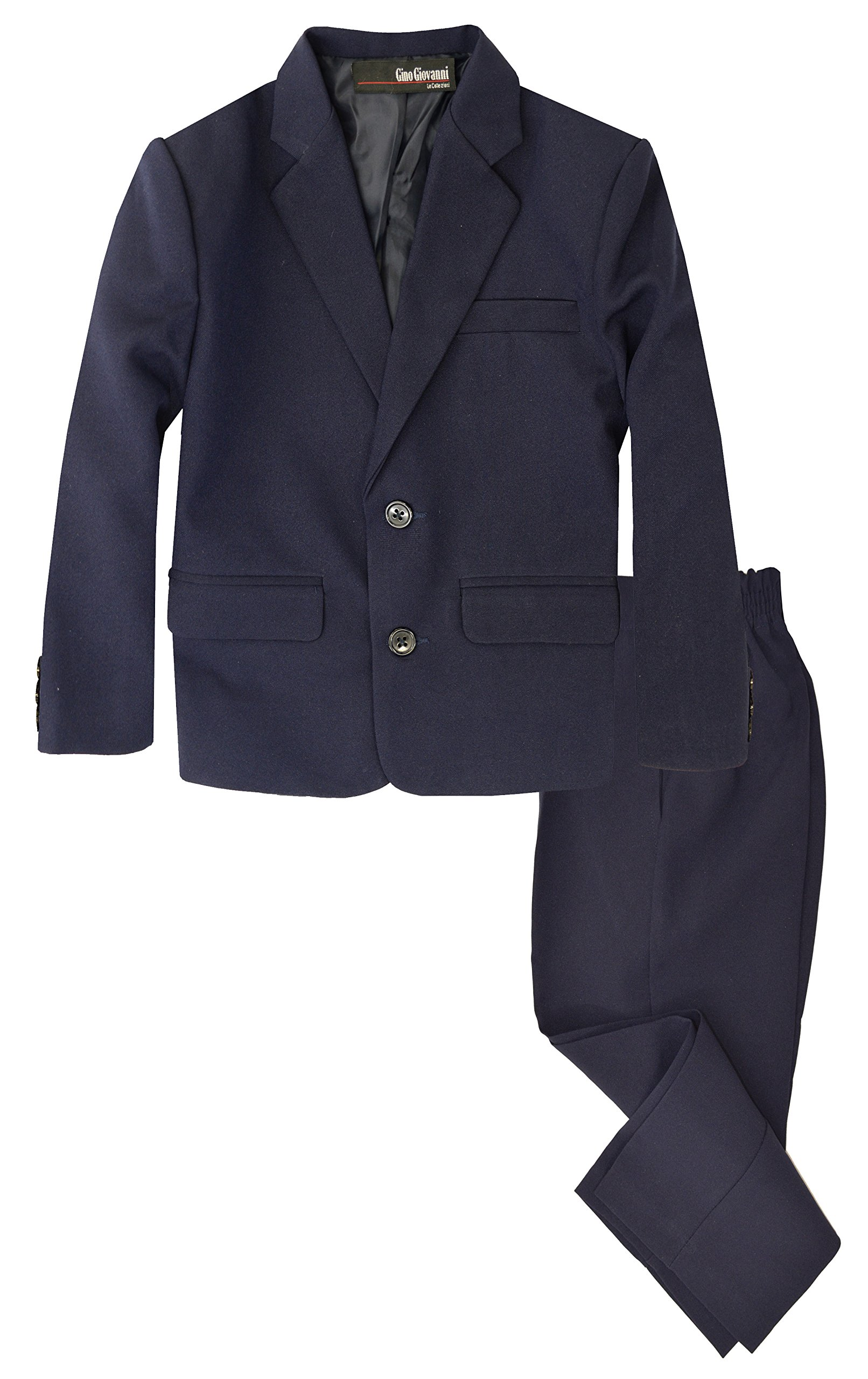 G218 Boys 2 Piece Suit Set Toddler to Teen (2/2T, Navy Blue)