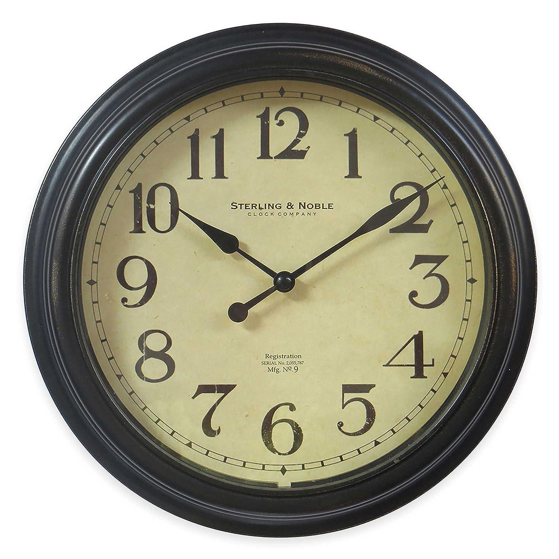 Amazon.com: Traditional Bronze Finish 10-Inch Wall Clock: Home & Kitchen