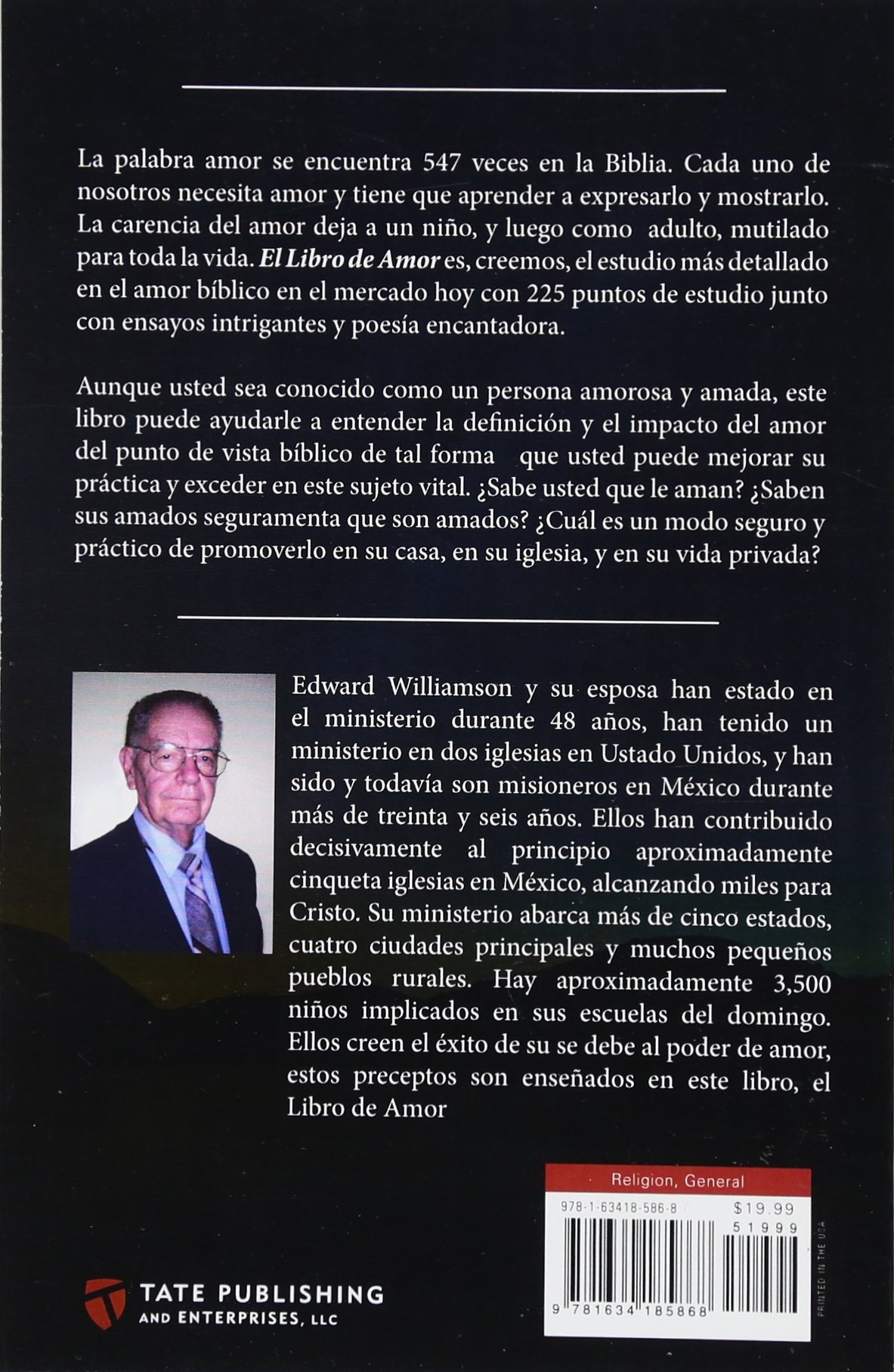 El Libro de Amor (Spanish Edition): Ed Williamson: 9781634185868: Amazon.com: Books
