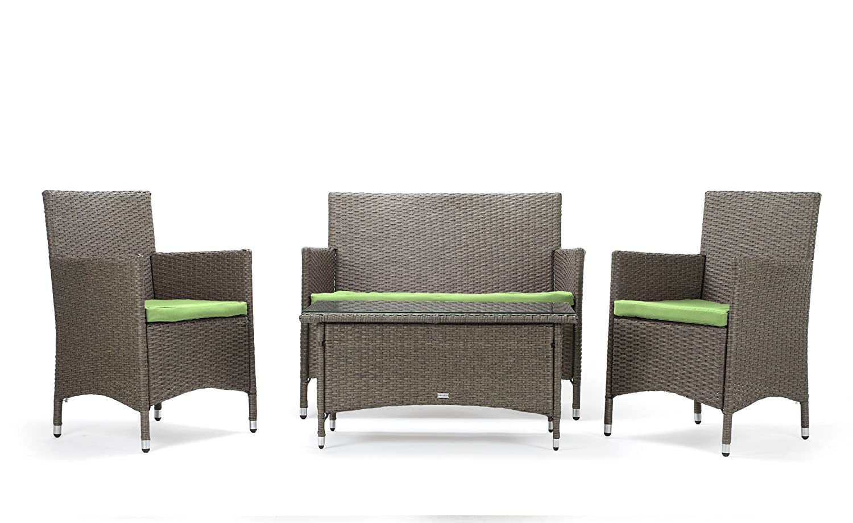 rattan4life sitzgruppe avignon 4 teilig deluxe polyrattan gartenm bel set sofa lounge. Black Bedroom Furniture Sets. Home Design Ideas