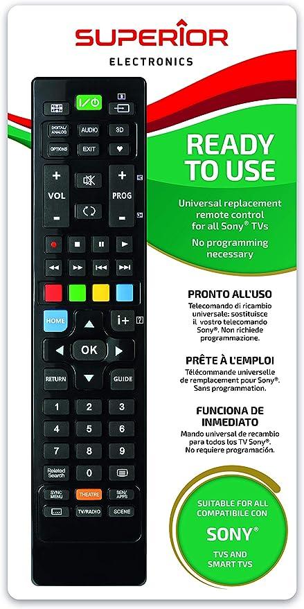 Superior a Distancia TV Universal para Todos los televisores Smart y ne Sony: Amazon.es: Electrónica