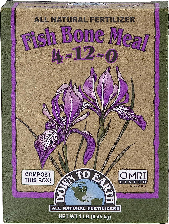 Down to Earth Organic Fish Bone Meal Fertilizer Mix 4-12-0, 1 lb