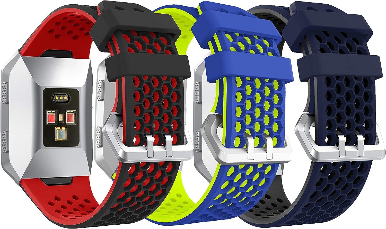 Syxinn Compatible para Fitbit Ionic Correa de Reloj, Banda de Reemplazo Silicona Suave Sports Pulsera para Ionic Watch