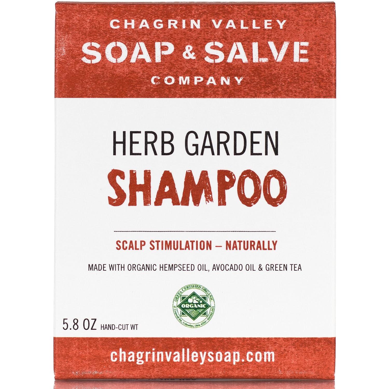 Organic Natural Shampoo Bar, Herb Garden, Chagrin Valley Soap & Salve