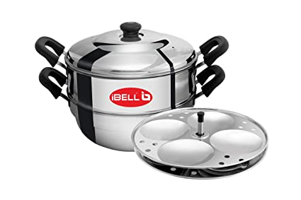 iBELL IDLY Cooker (2 Plate) Stainless Steel Idly Cooker with 2 Idly Plates (8 Idlyes)