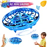 Mini Drone for Kids Adults, Flying Ball Remote Controlled Quadcopter Light Up Flying Toys, Two Speed Auto-Avoid Obstacles 360°Rotating Infrared Induction RC Helicopter Outdoor Toys Gift for Boys Girls