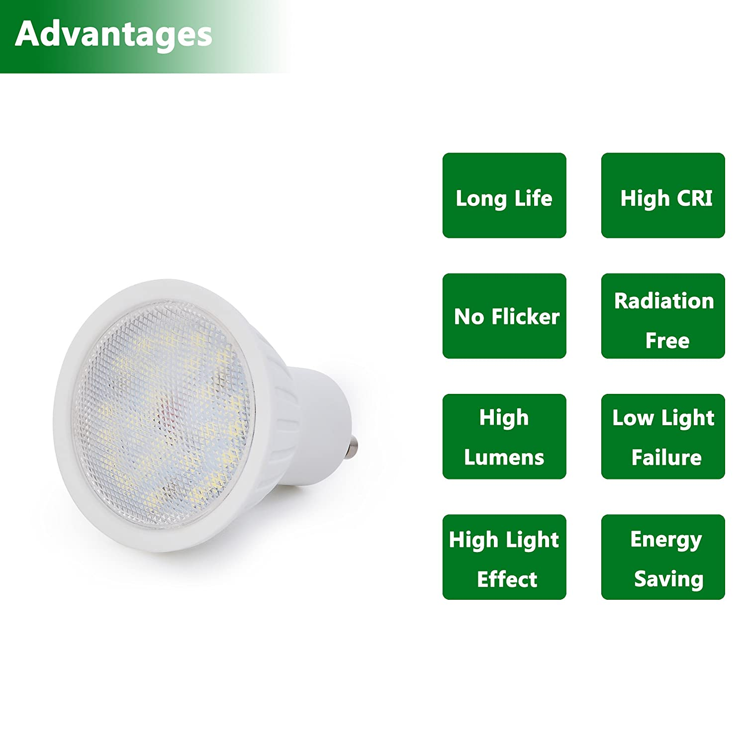 6 Pack Gu10 Led Bulbs 7w 700lm Light Bulb 3000k Soft White 120v A C Lamp Flicker From Votive Candle Type 1 Cob Schematic 65w Halogen Equivalent 120 Beam Angle Recessed Lighting Downlight Ac 2 Years