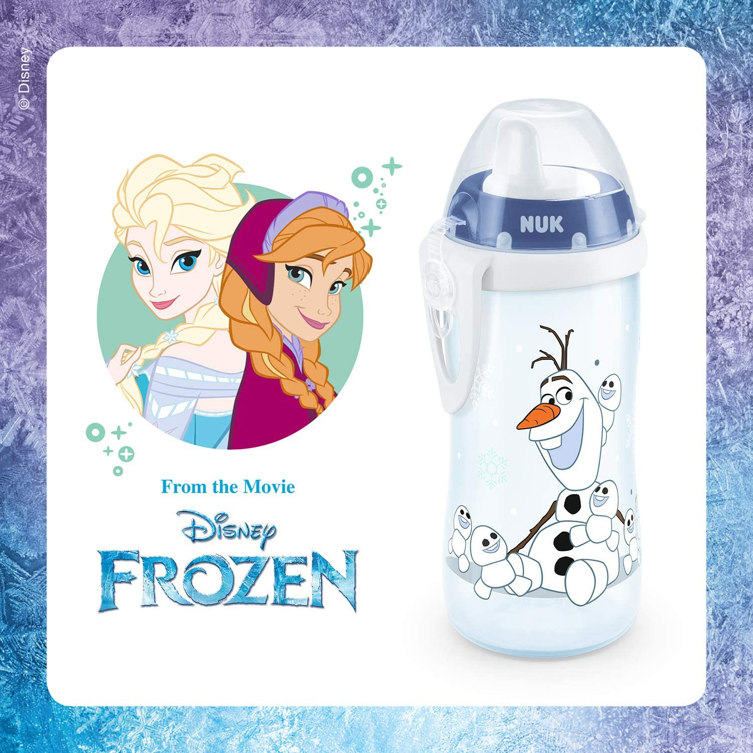 Olaf NUK Disney Frozen Kiddy Cup Toddler Cup 12+ Months BPA-free Leak-Proof with Bite Resistant Spout 300ml