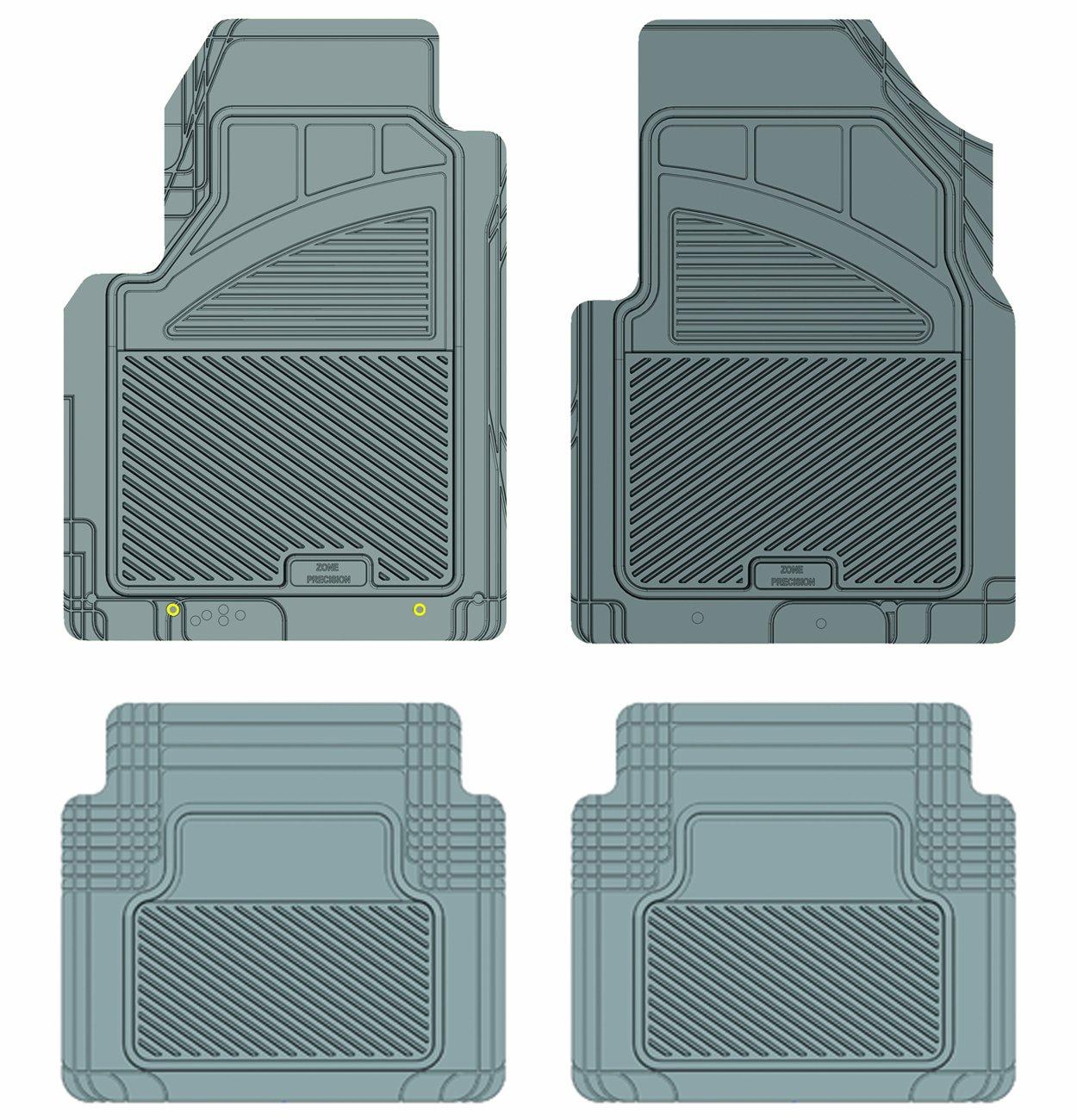 Grey Koolatron Pants Saver Custom Fit 4 Piece All Weather Car Mat for Select Nissan Rogue Models