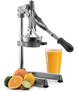 Manual Fruit Juicer - Commercial Grade Home Citrus Lever Squeezer for Oranges, Lemons, Limes