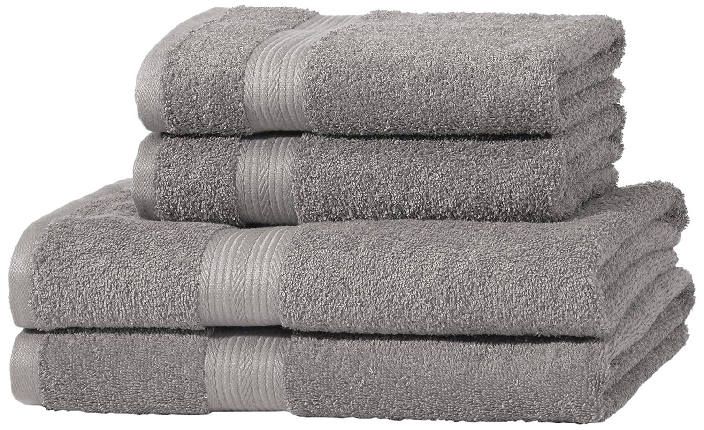 AmazonBasics - Set di 2 asciugamani da bagno che non sbiadiscono, colore Marrone ABFR-2 pk Bath/ABFR-AB