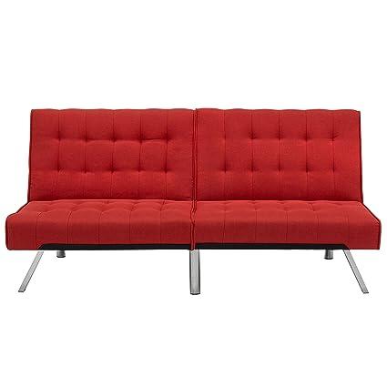 Gentil Best Choice Products Modern Linen Reclining Futon Sofa Couch Lounger  Sleeper Furniture W/Chrome Legs