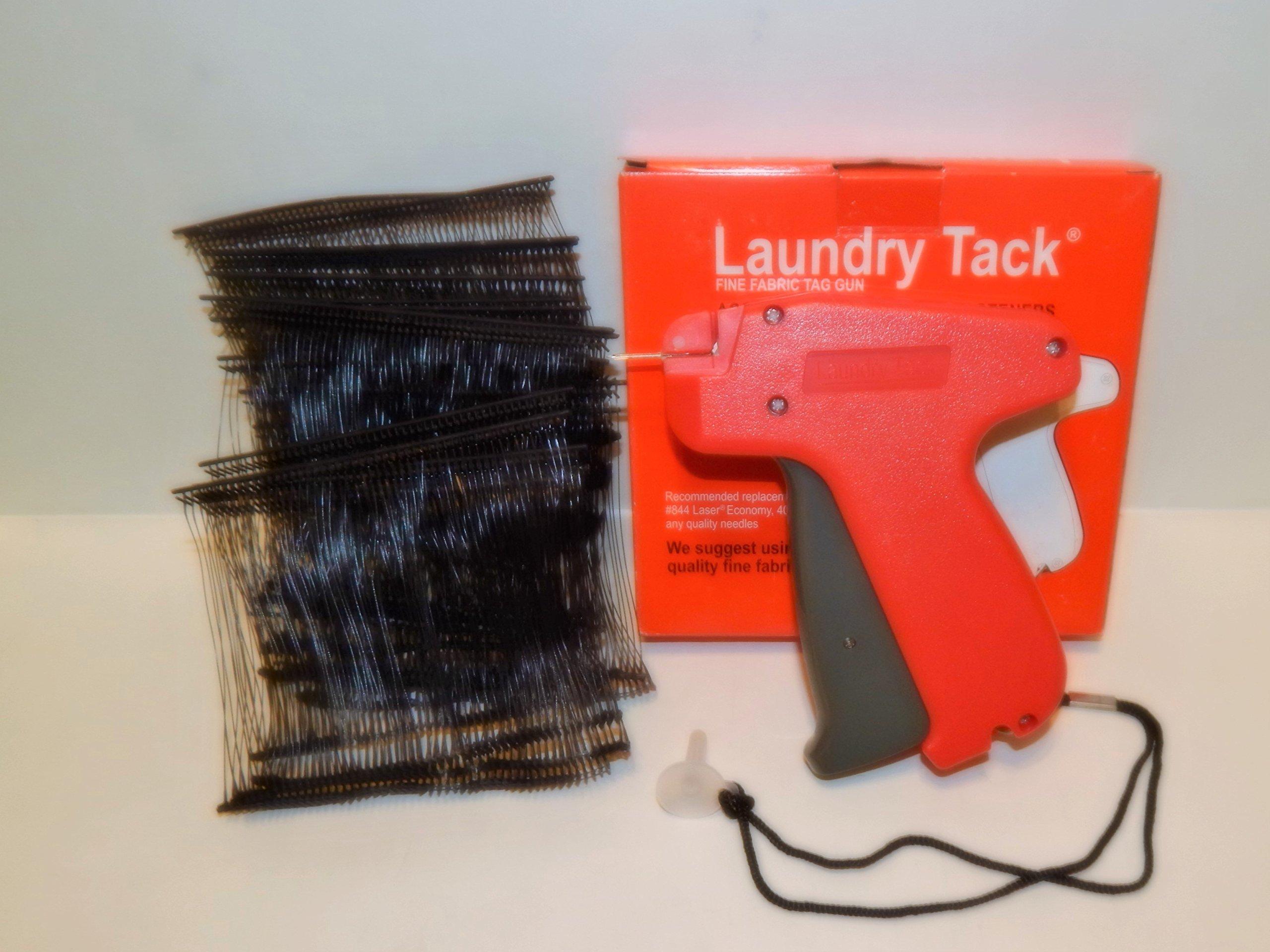 FINE CLOTHING PRICE LABEL TAGGING TAGGER GUN w/ 1000 black barbs FASTENER 3''