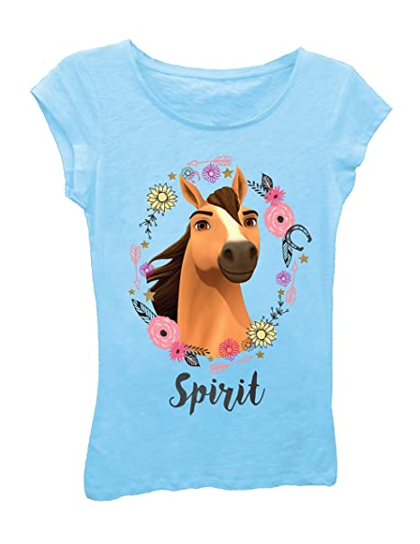 48e97afa1 Spirit Riding Free Girls T-Shirt - DreamWorks Girls Spirit Short Sleeve T- Shirt