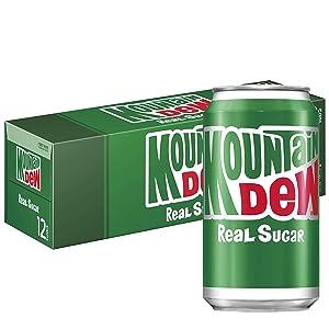 Mountain Dew Soda Fridge Pack (Pack of 4) (Throwback Soda)