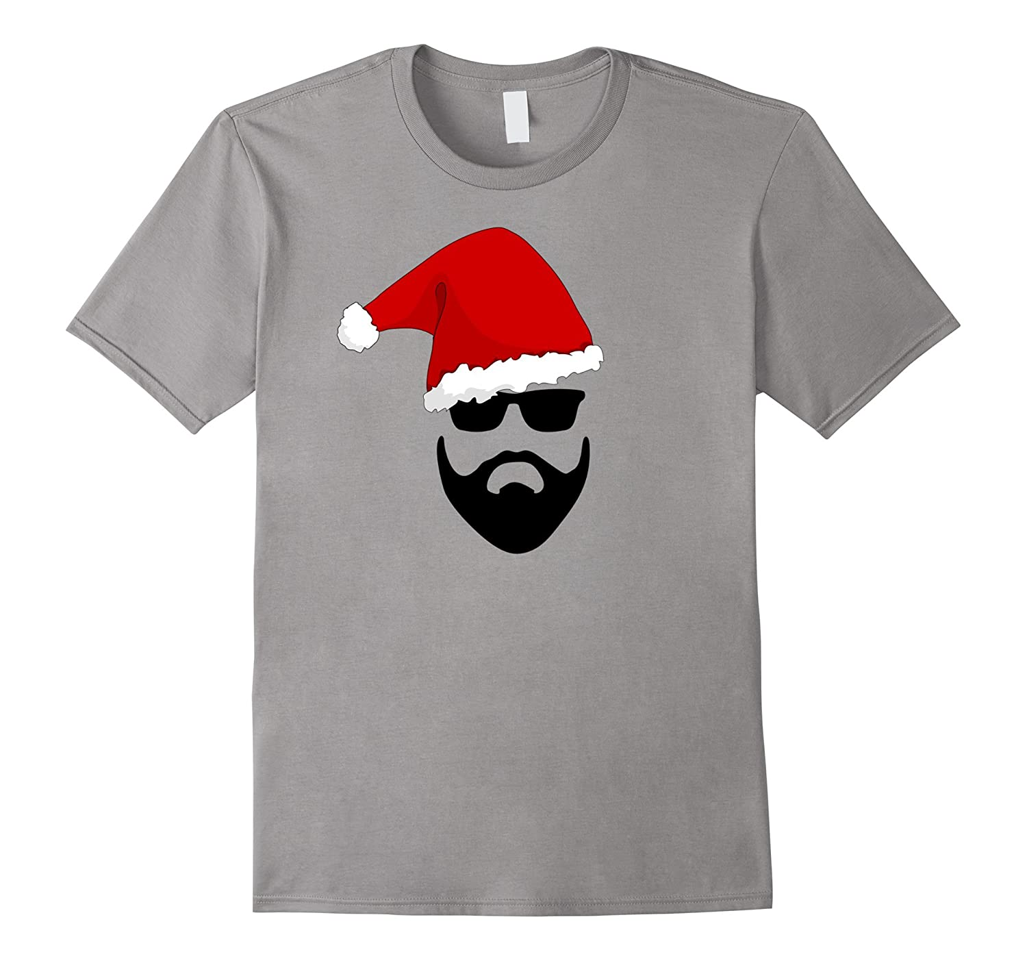 Bearded Santa Claus in Sunglasses hot T Shirt-Art