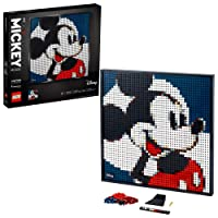 LEGO Art Disney's Mickey Mouse 31202 Craft Building Kit; A Wall Decor Set for Adults Who Love Creative Hobbies, New 2021 (2,658 Pieces)