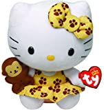 Hello Kitty - Peluche safari, 15 cm, color amarillo (TY 42088TY)