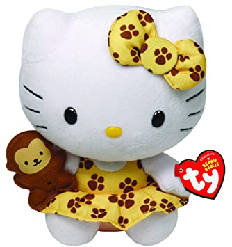 Ty Hello Kitty - Peluche safari, 15 cm, color amarillo 42088TY