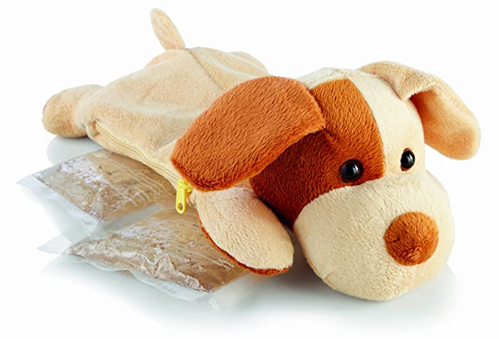 Sunbeam 1925-715 Comfort Friends Hot/Cold Packs, with Plush Puppy Cover