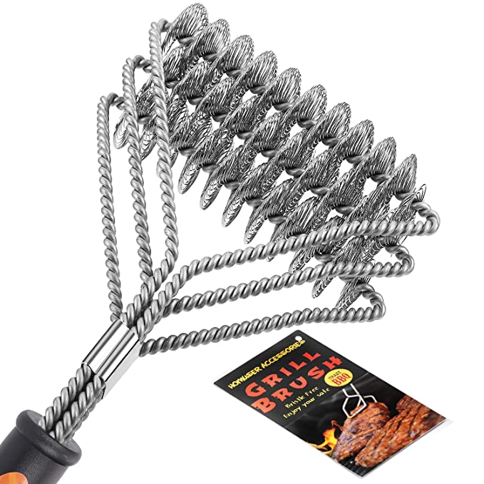 Homuser Grill Brush Bristle Free - Safe BBQ Cleaning Barbecue Brush 18