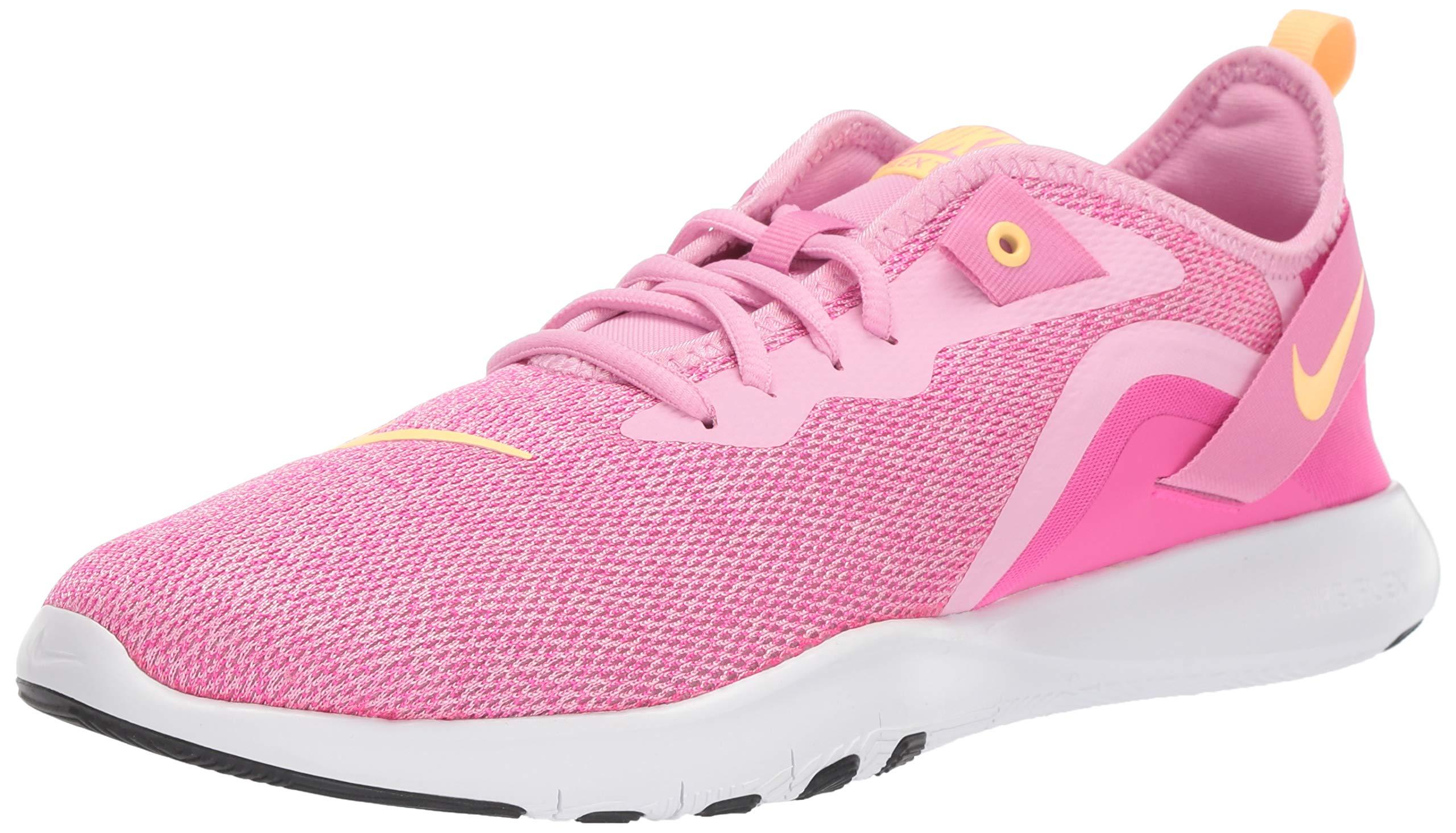 Nike Women's Flex Trainer 9 Sneaker, Pink Rise/Melon Tint - Laser Fuchsia, 12 Regular US by Nike