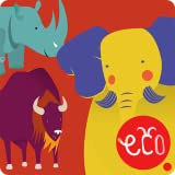 Storybook for Kids: Elephant, Rhino and Buffalo - The Fun Animal Adventure for Children 3, 4, 5 to 6 year old, preschool toddler - Interactive Reading, Ecology Stories