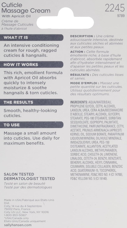 Sally Hansen Cuticle Massage Cream, 0.4 Ounce (Pack of 2) : Nail Growth Formula Treatments : Beauty