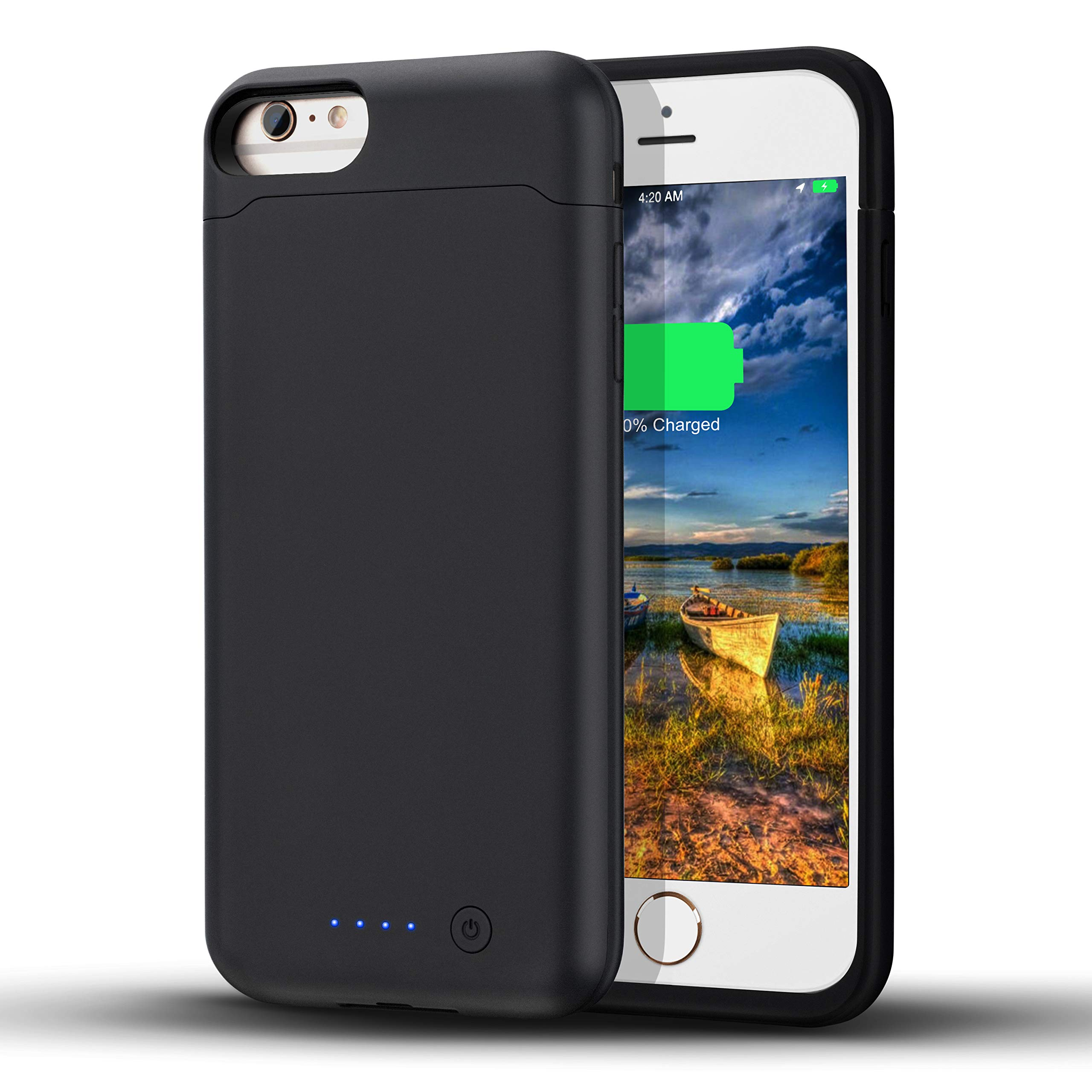 LCLEBM Battery Case for iPhone 6 Plus/ 6s Plus (5.5 inch), 8500mAh High Capacity Extended Battery Charger Case, Portable Protective Charging Case Compatible with iPhone 6 Plus/6s Plus - Black by LCLEBM (Image #1)
