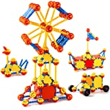 cossy STEM Learning Toy Engineering Construction Building Blocks 198 Pieces Kids Educational Toy for Boys and Girls Ages…