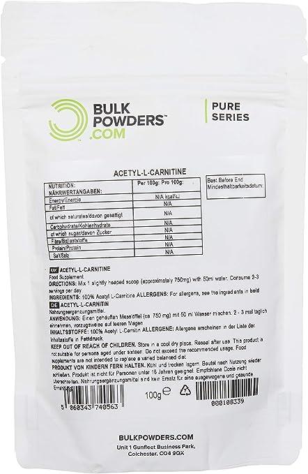 Bulk Powders 100g Acetyl L-Carnitine