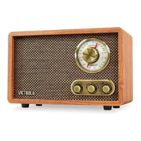 Amazon.com: Victrola Retro Wood Bluetooth FM/AM Radio with Rotary Dial, Walnut: Home Audio & Theater