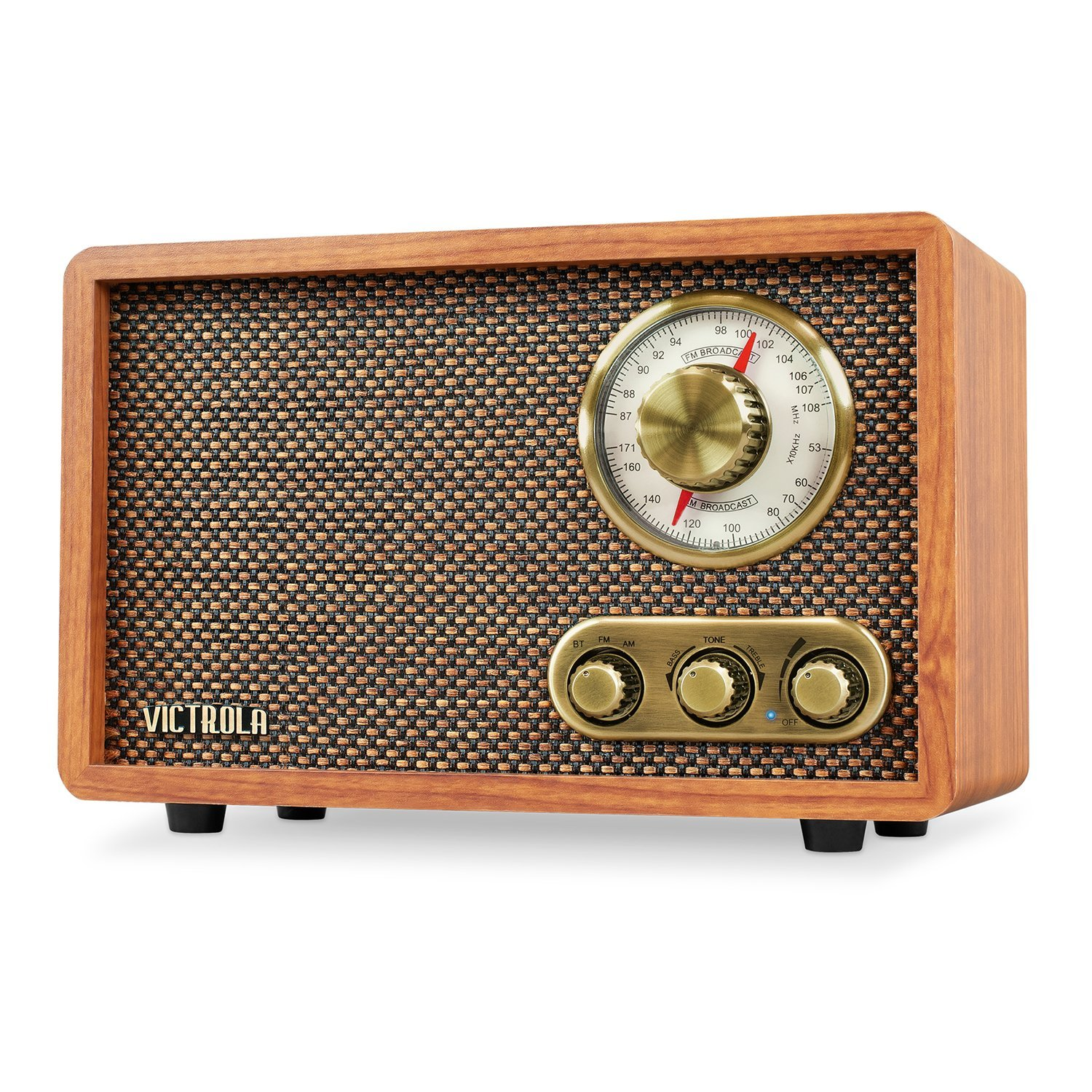 Victrola Retro Wood Bluetooth FM/AM Radio with Rotary Dial, Walnut by Victrola (Image #1)