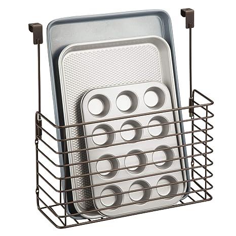 mDesign Set da 2 mensole per cucina senza forare - Pratico ...