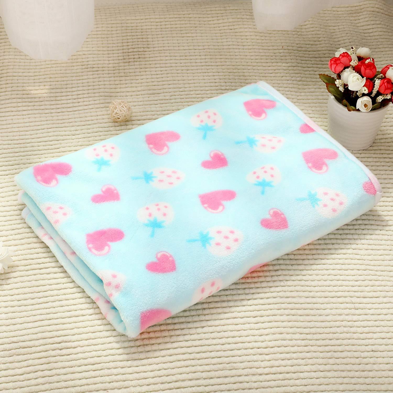 FERZA petsuppliesmisc Washable Pet Blanket Pet Bed Blanket Soft and Cute Warm Dog Blanket (104  76cm)