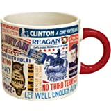 "Presidential Slogan Coffee Mug - From ""Tippecanoe and Tyler Too"" to ""Yes We Can"" - Comes in a Fun Gift Box"