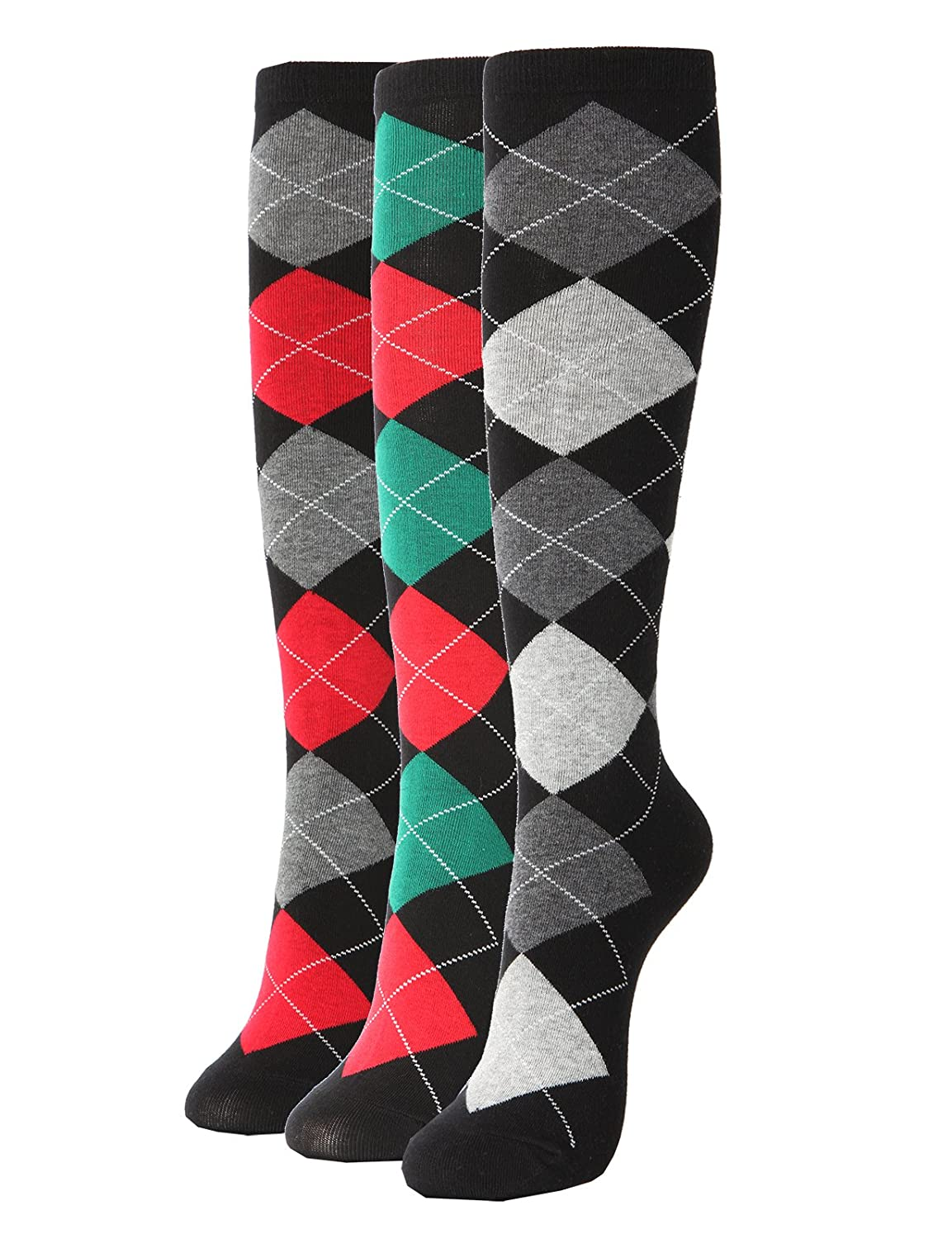 Vintage Socks | 1920s, 1930s, 1940s, 1950s, 1960s History Knee High Socks 3Pairs 1 Set with Cute Colorful Pattern $17.95 AT vintagedancer.com