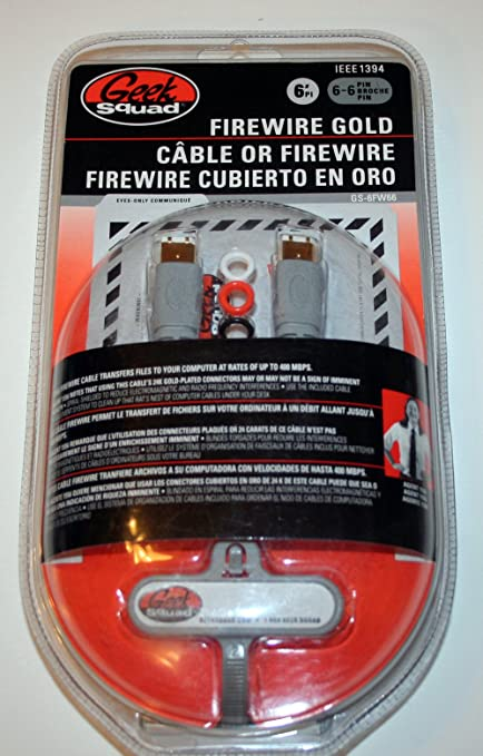 Geek Squad Firewire Gold 6 Foot 6 pin to 6 pin Cable GS-6FW66
