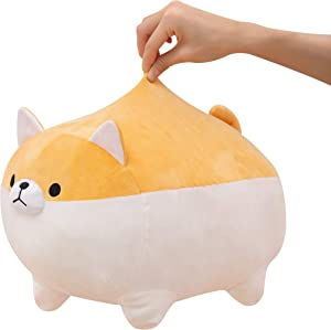 Stuffed Animal Shiba Inu, Large Adorable Japanese Anime Corgi plushie, Soft Cute squeezable Cushion Pillow, Kawaii Home décor , Perfect for Cuddling, Great for Stress Relief and Concentration