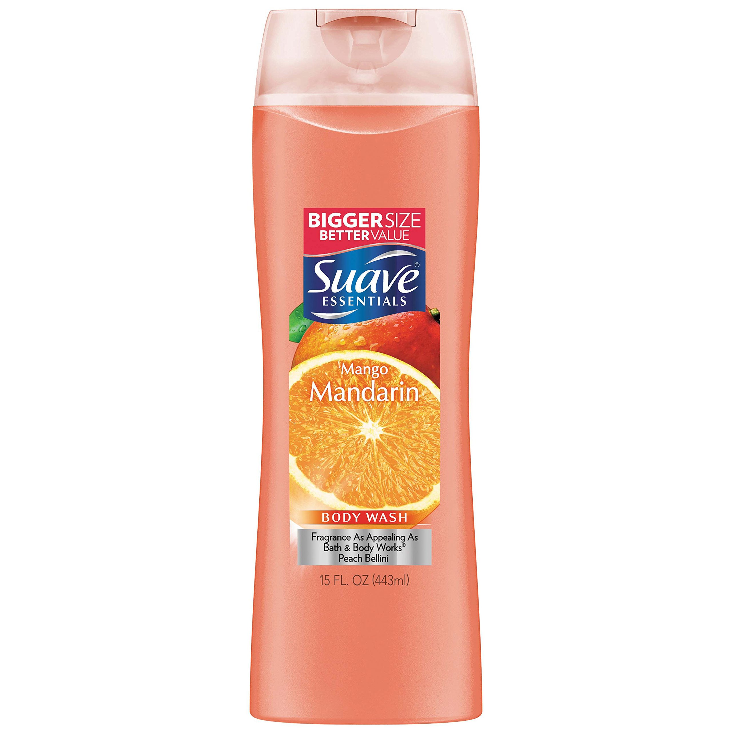 Suave Essentials Body Wash, Mango Mandarin 15 oz (Pack of 6)