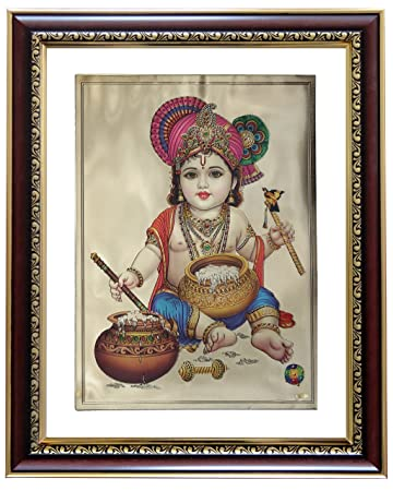 42b18520bcb8 Buy GoldArt Krishna Gold Foil Photo Frame   Wall Hangings SYCL S4 Online at  Low Prices in India - Amazon.in