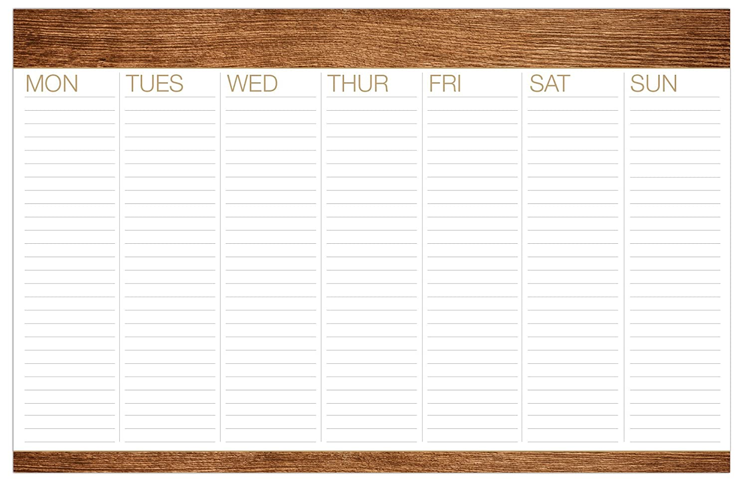"""Weekly Desk to Do Pad 11""""x17"""" (Wood Pattern)"""