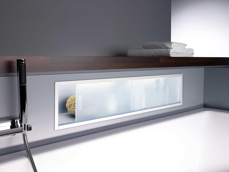 Emco Módulo de estantería Emco ASIS 1000mm, cromado iluminado: Amazon.es: Hogar