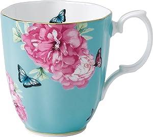 Royal Albert 40001826 Friendship Vintage Mug Designed by Miranda Kerr, 13.5-Ounce, Turquoise