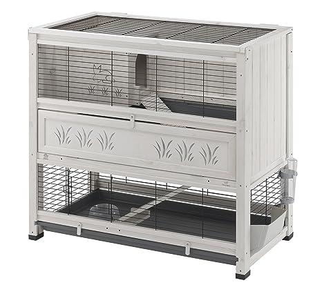 Ferplast doméstica adolescente Cottage Large para conejos y otros animales pequeños/el cofre de interior