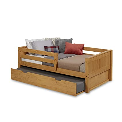 Amazon.com: Camaflexi Panel Style Solid Wood Day Bed with Trundle